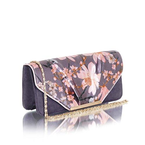 Ruby Shoo Women's Slate Floral Brocade Madelaine Mary Jane Pumps & Matching Bologna Bag UK 5 EU 38 by Ruby Shoo (Image #5)