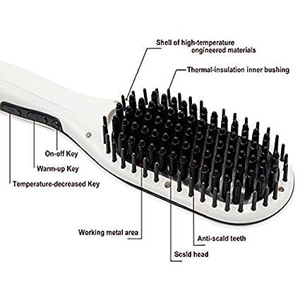 Mermaid Cepillo Alisador Peine Pelo Alisador Plancha Electrónico LCD Digital Cepillo de Pelo Profesional Alisador Pelo Hair Straightener para Enderezar el ...