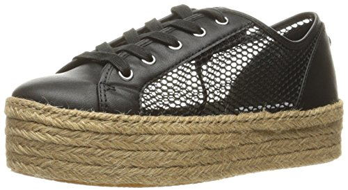 Steve Madden Women's Mars Fashion Sneaker, Black, 11 M US