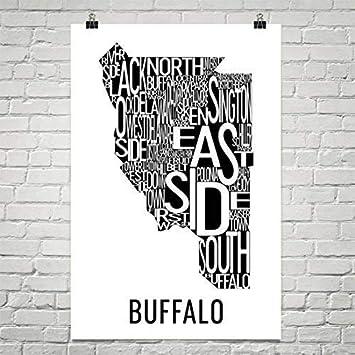 Carte Ville Buffalo.Modern Map Art Ville D Art Buffalo Typographie Quartier