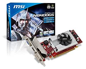 MSI nVidia GeForce 8400GS TurboCache 256MB DDR2 VGA/DVI/HDMI Low Profile PCI-Express Video Card Video Card N8400GS-MD256/TC