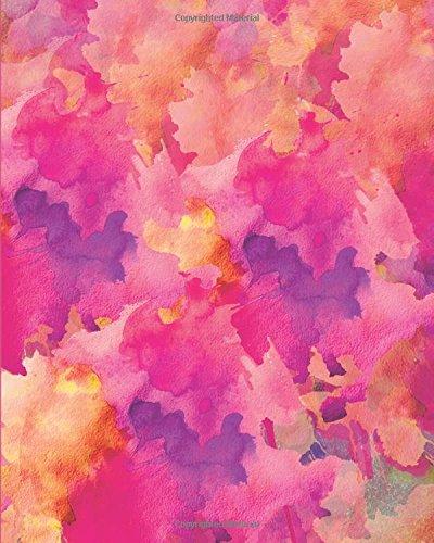 Sketchbook: Pink Watercolor 8x10 - BLANK JOURNAL NO LINES - unlined, unruled pages (Watercolor Sketchbook Series)