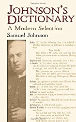 Johnson's Dictionary: A Modern Selection (Dover Books on Literature & Drama)