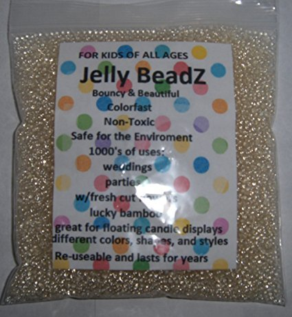 - JellyBeadZ Brand Generic Cigar Caddy, Crystal Clear Hydration Expanding Water beads 8 Ounce Package