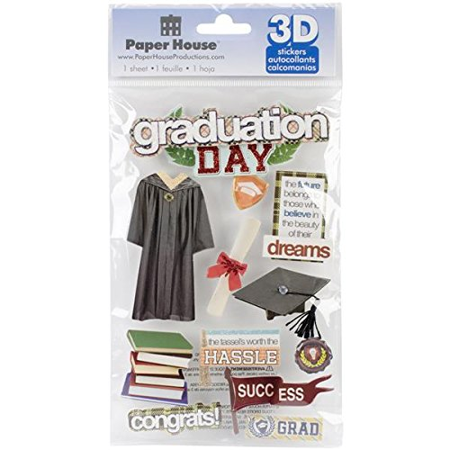 (Paper House Productions STDM-0189E 3D Cardstock Stickers, Graduation Day)