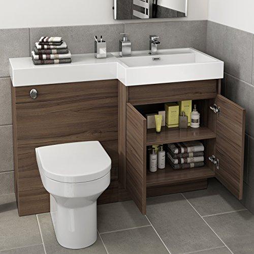 1200 mm modern walnut bathroom vanity unit basin sink. Black Bedroom Furniture Sets. Home Design Ideas