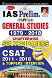 Kiran's IAS Prelim. (Paper I) General Studies 1979 To 2018 Chapterwise Solved Papers and Csat 2011 To 2018 & Toppers' Interview English - 2329