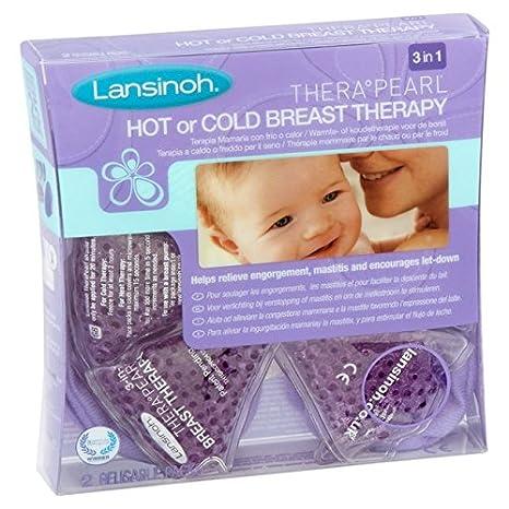 Lansinoh Terapia de Frío / Calor para el Pecho, TheraPearl 3 en 1. Para la mastitis, pechos congestionados y ayuda a la estimulación de la salida de ...
