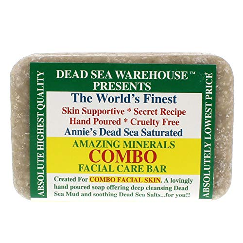 Dead Sea Warehouse - Amazing Minerals Combination Facial Skin Soap Bar, Hand Crafted with Deep Cleansing Dead Sea Mud & Soothing Dead Sea Salts (5.2 Ounces) ()