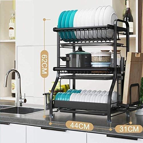 水切りステンレスキッチン、2Etagen / 3階キッチンとリビングルームのまな板ホルダー付き安定した多機能乾燥道具