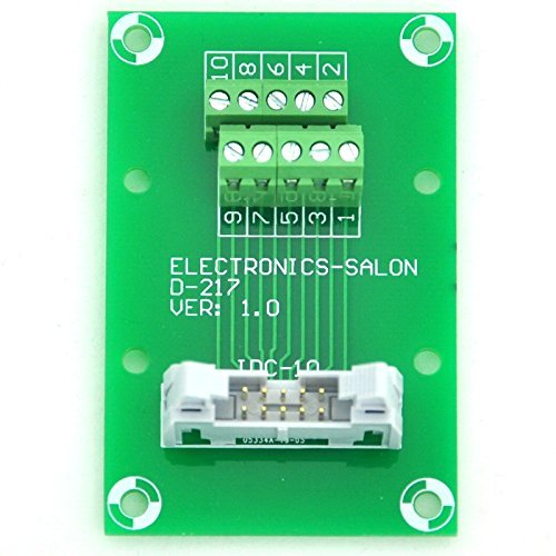 Electronics-Salon IDC10 2x5 Pins 0.1'' Male Header Breakout Board, Terminal Block, Connector.