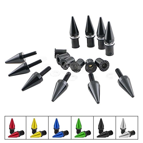 Spike Motorcycle Fairing Bolts/Windshield Screws/Windscreen Bolts, 10 Piece - Windscreen 10