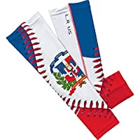 Dominican Republic Flag Baseball Lace Arm Sleeve M 2-pack