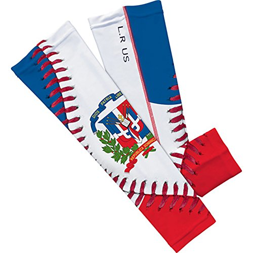 Dominican Republic Flag Baseball Lace Arm Sleeve M 2-pack by SLEEFS (Image #3)