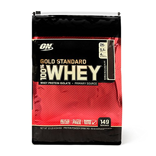 Optimum Nutrition 100 Whey Protein Gold Standard - Double Rich Chocolate 10 lb