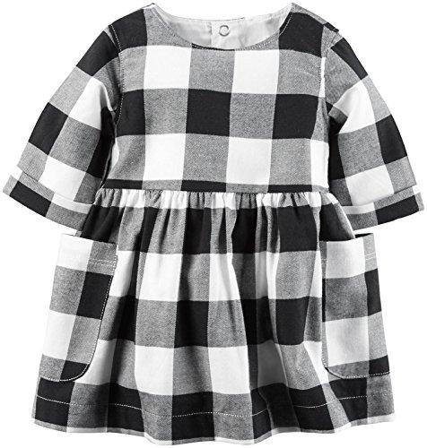 Carters Girls Flannel Pocket Dress