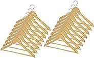 Whitmor Grade A - Perchas de madera natural para traje (16 unidades)
