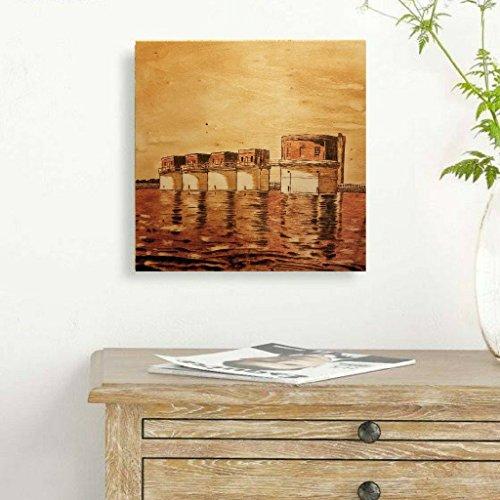 Lake Murray South Carolina Dam Towers Wood-Burnt Art Sign Decor - South Tower