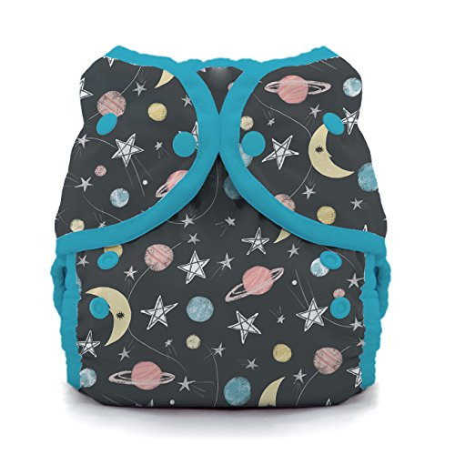 (Thirsties Duo Wrap Cloth Diaper Cover, Snap Closure, Stargazer Size One (6-18 lbs))