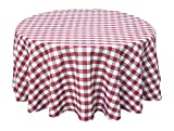country kitchen tablecloths Wine Red White Tablecloths: Gingham Checkered Design (58