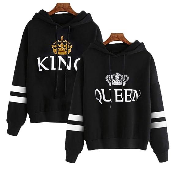 Stephaee Damen und Herren Pärchen King Queen Pullover