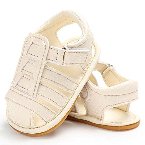 Hunpta Baby weiche Sohle Leder Schuhe neugeborenen Mädchen Kleinkind Kinderbett Prewalker 0-18 M Weiß