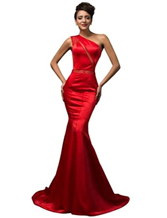 GRACE KARIN Red Long Evening Dresses (Red, 16)