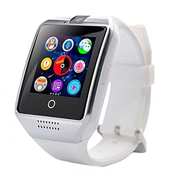 Zippem Q18 Smart Watch Smartwatch Bluetooth Touchscreen Sweatproof Phone with Camera TF/SIM Card Slot
