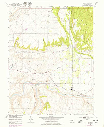 YellowMaps Lazear CO topo map, 1:24000 Scale, 7.5 X 7.5 Minute, Historical, 1955, Updated 1979, 26.9 x 22 in - Tyvek (Fishing The Black Canyon Of The Gunnison)