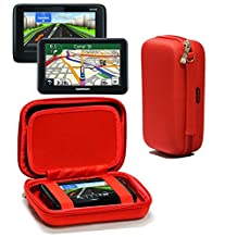 Navitech Red Premium Travel Hard Carry Case / Cover Sleeve For The Garmin DriveAssist 50LMT-D