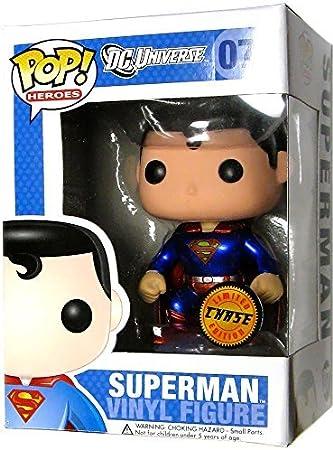 DC POP Heroes Series 2 Funko DC Universe Pop! Heroes Superman Chase Figure Vinyl Figure #07 [Metllic Version] by: Amazon.es: Juguetes y juegos