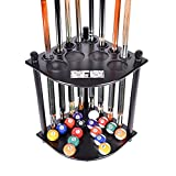 Cue Rack Only - 8 Pool Billiard Stick & Ball Floor Stand Scorer Choose Mahogany, Black Oak Finish