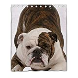 LiFei Business Playful Dog Gaming mouse Custom shower curtain 60''(W) x 72''(H) (12 Holes)