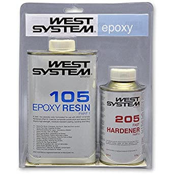 West Systems A Pack Epoxy Resin Kit [105/205] 1 2Kg: Amazon