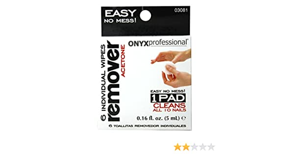 Amazon.com : Onyx Professional 6 Pack Acetone Nail Polish Remover Wipes - Removes Nail Polish, Nail Glitter & Nail Glue with No Mess : Beauty