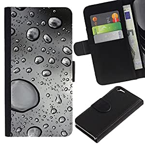 JackGot ( Gotas de agua ) Apple (4.7 inches!!!) iPhone 6 / 6S la tarjeta de Crédito Slots PU Funda de cuero Monedero caso cubierta de piel