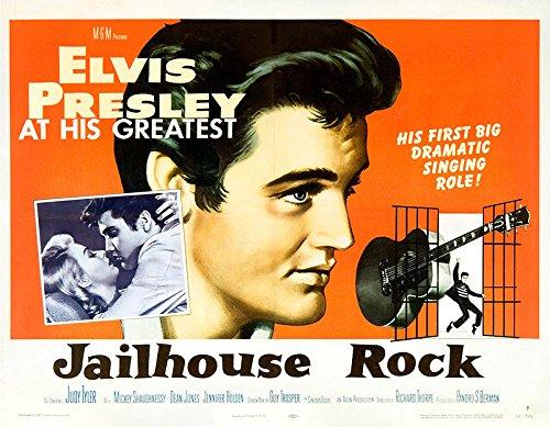 Jailhouse Rock 1957 Authentic Original Movie Poster Fine, Very Good Elvis Presley Crime U.S.