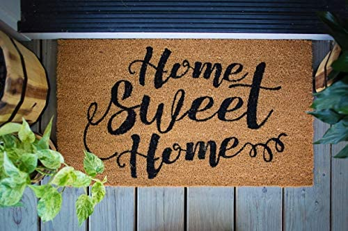 Avera Products Home Sweet Home Welcome Mat, All Natural Coir Fiber with Anti-Slip PVC Backing, 17×29 ADW012