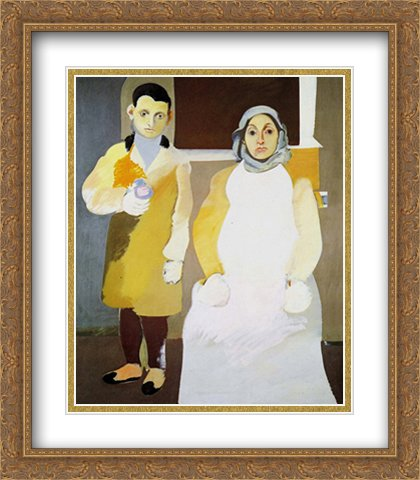 Artist and His Mother 2X Matted 24x32 Large Gold Ornate Framed Art Print by Arshile Gorky (Arshile Gorky The Artist And His Mother)