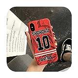 Jordan X Slam Dunk cartoon sports Soft silicon cover case for iphone 6 6Plus S 7 7 plus 8 8Plus X 47