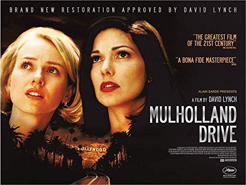 By Be the Bestest Rare Poster David Lynch Mulholland Drive Thick 2001 giclee Reprint 12 x 18 Inch Poster Rolled