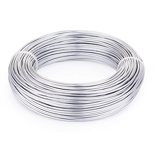 (Pandahall 656 Feet Silver Aluminum Craft Wire 20 Gauge Flexible Metal Wire for Jewelry Making)