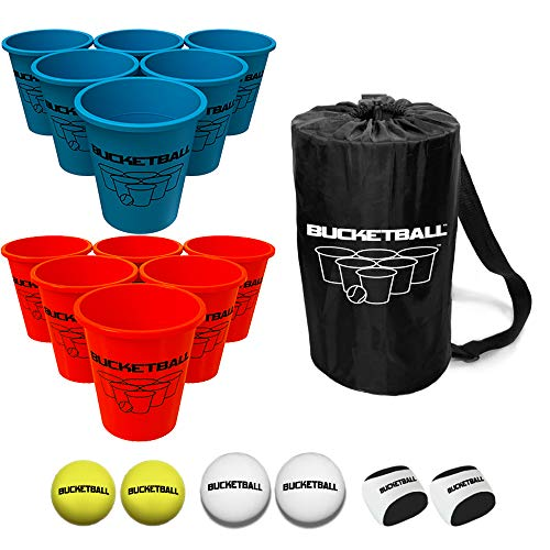 (Bucket Ball - Beach Edition Combo Pack - Ultimate Beach, Pool, Yard, Camping, Tailgate, BBQ, Lawn, Water, Indoor, Outdoor Game - Best Gift Toy for Adults, Boys, Girls, Teens, Family)