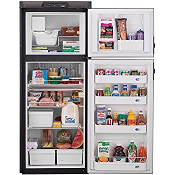 refrigerator 8 cu ft. dometic dm2852rb americana double door rv refrigerator - 2-way, 8 cubic ft. cu ft n