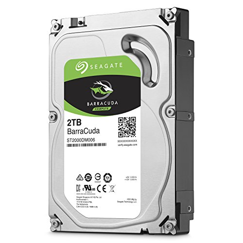 Seagate 2TB BarraCuda SATA 6 Gb/s 7200 RPM 64MB Cache 3.5 Inch Desktop Hard Drive (ST2000DM006)
