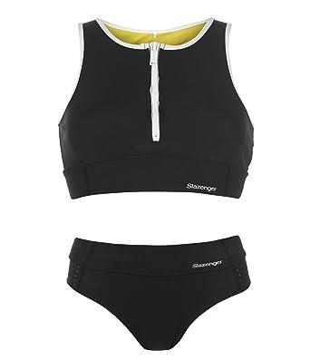 9276af8ec6 Slazenger Womens Zip Bikini Set Wide Elasticated Waistband: Amazon.co.uk:  Clothing