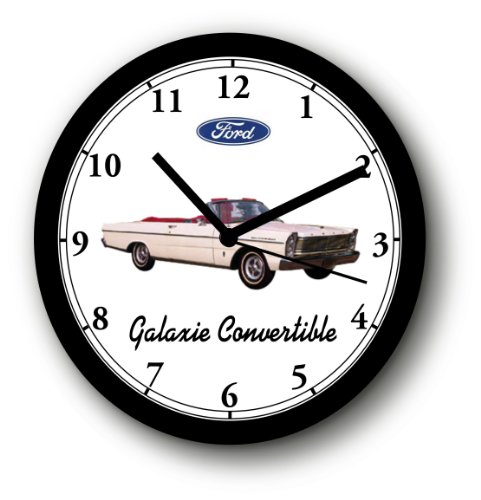 - 1965 FORD GALAXIE 500 CONVERTIBLE WALL CLOCK-Free USA Ship