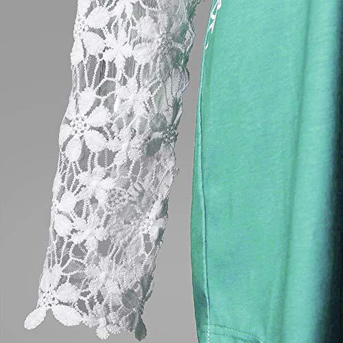 Sexy Patchwork Vrac Verte Bureau Menthe Chemise Vetements Mode Dentelle Chic Col Femmes 2018 et en Longue T Manches Dcontracte Automne Haut t Fille OVERMAL V Floral Shirt Tops en Blouse 1 gOxWwAnSqH