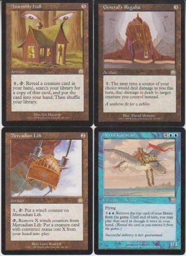 Magic Rare 4 Card Lot Mercadian Masques with Aerial Caravan