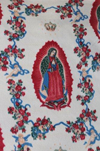 Virgin Mary Fleece Fabric,Sold by Yard,60